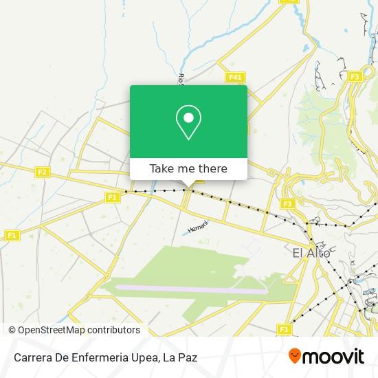 Carrera De Enfermeria Upea map