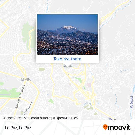 La Paz map