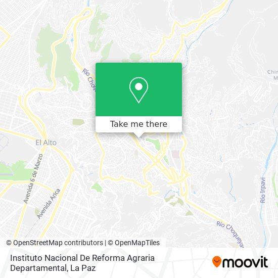 Inra Departamental La Paz map