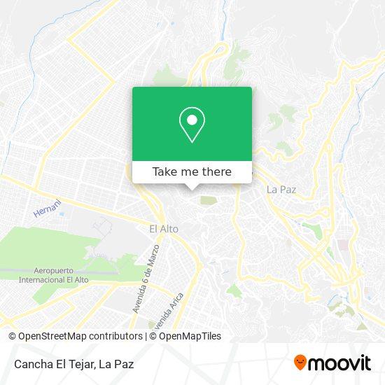 Cancha El Tejar map