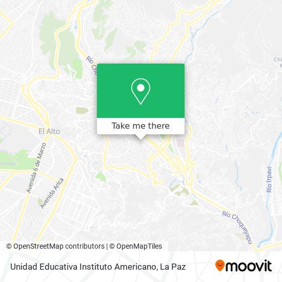 Instituto Americano map