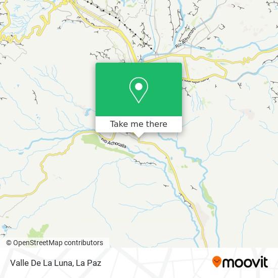 Valle De La Luna map