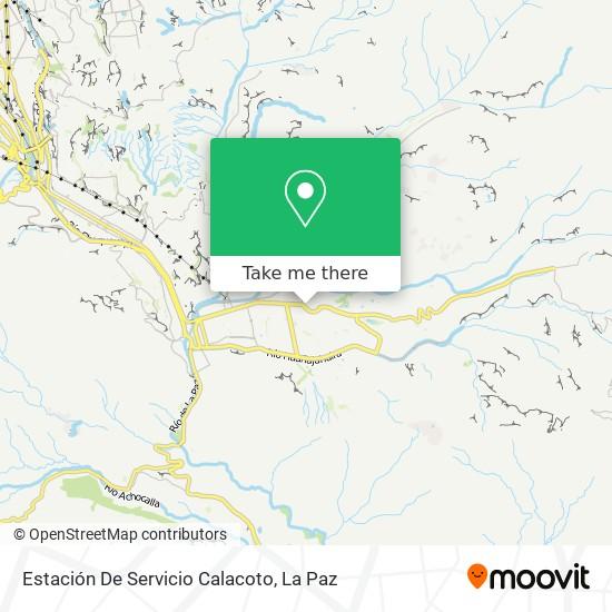 Estación De Servicio Calacoto map