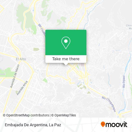 Embajada De Argentina map