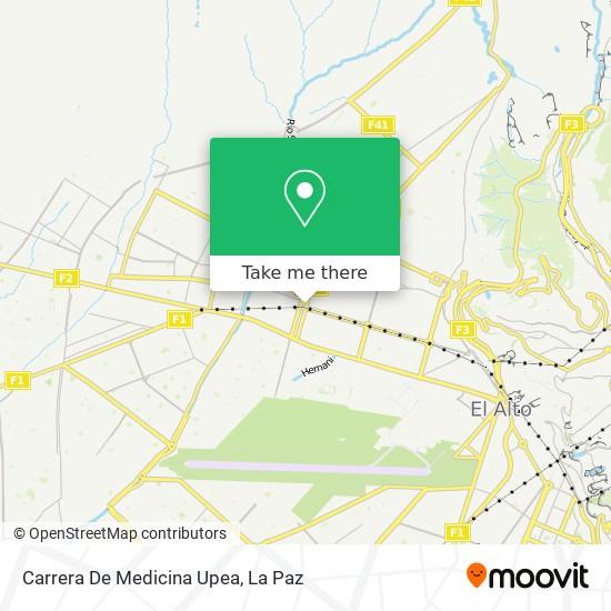 Carrera De Medicina Upea map