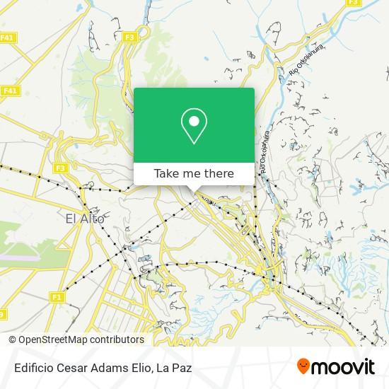 Edificio Cesar Adams Elio map