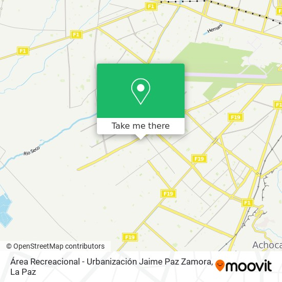 Área Recreacional - Urbanización Jaime Paz Zamora map