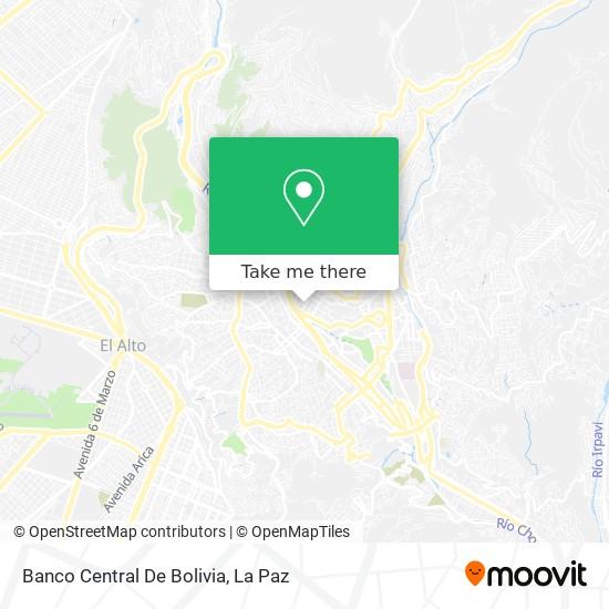 Banco Central De Bolivia map