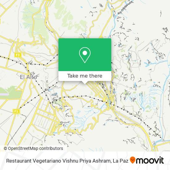 Restaurant Vegetariano Vishnu Priya Ashram map