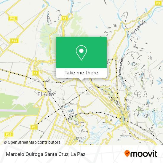 Marcelo Quiroga Santa Cruz map