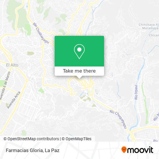 Farmacias Gloria map