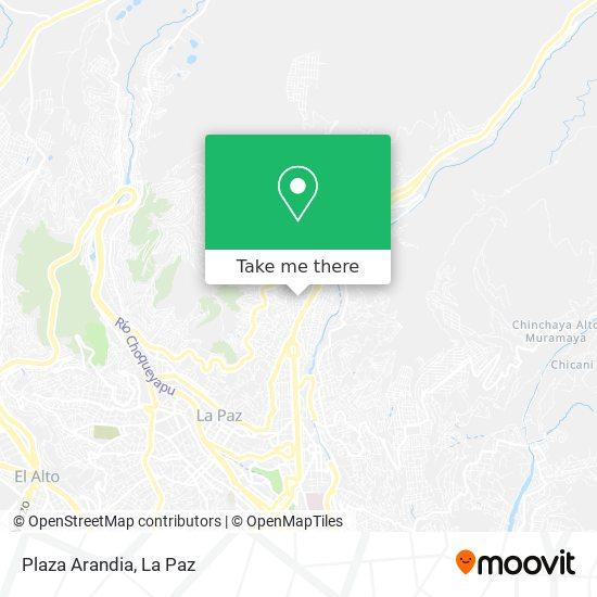 Plaza Arandia map