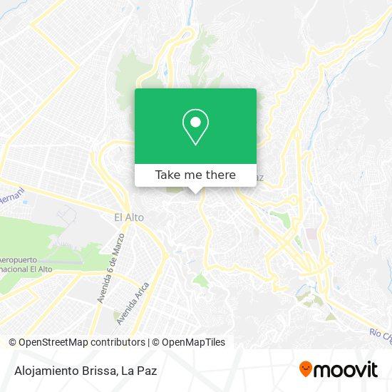 Alojamiento Brissa map