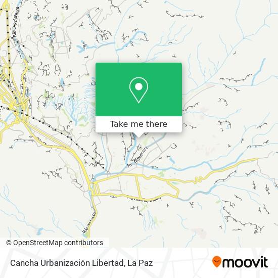 Cancha Urbanización Libertad map