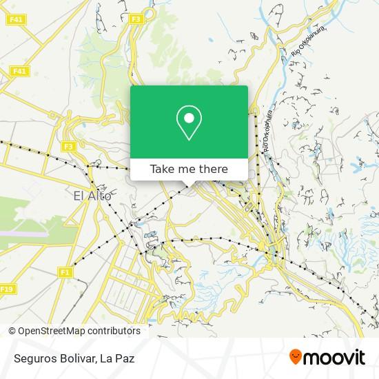 Seguros Bolivar map
