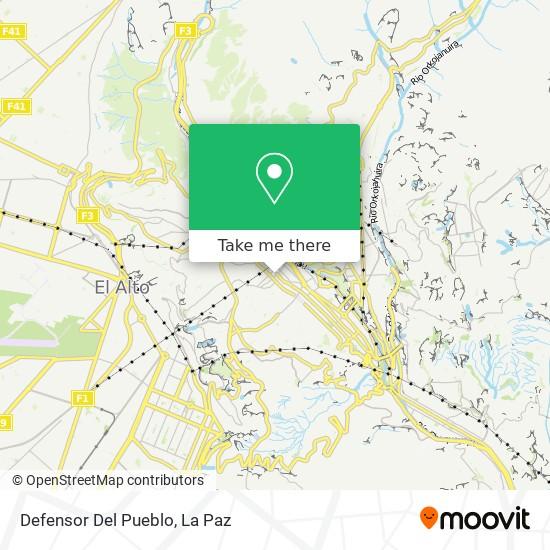 Defensor Del Pueblo map