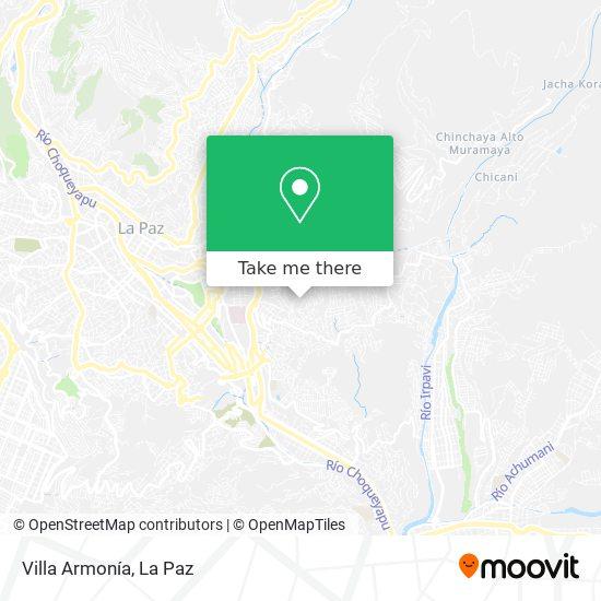 Villa Armonía map