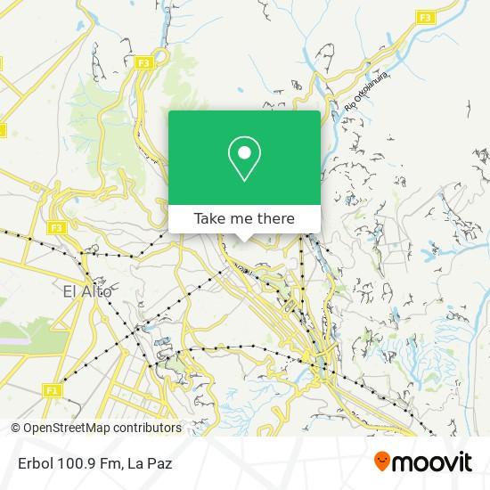 Erbol 100.9 Fm map