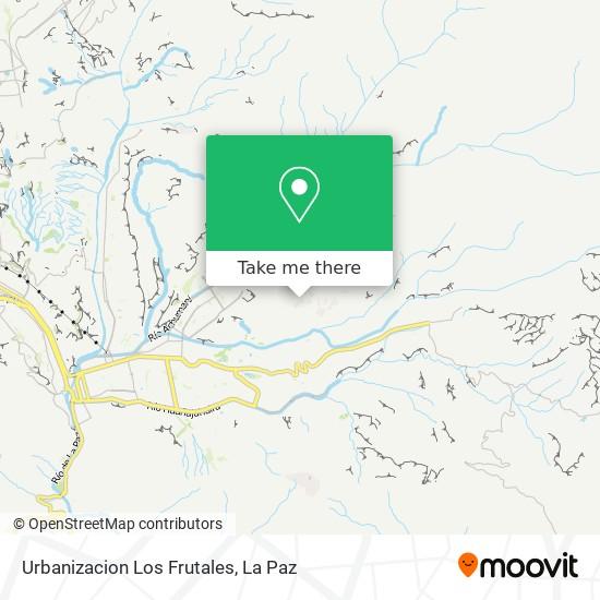 Urbanizacion Los Frutales map