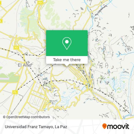 Universidad Franz Tamayo map