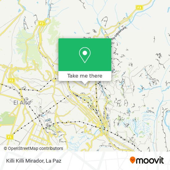 Killi Killi Mirador map