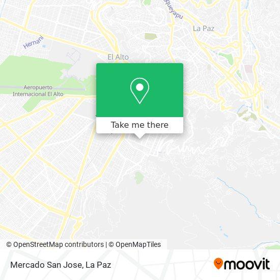 Mercado San Jose map