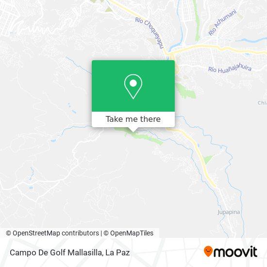 Campo De Golf Mallasilla map