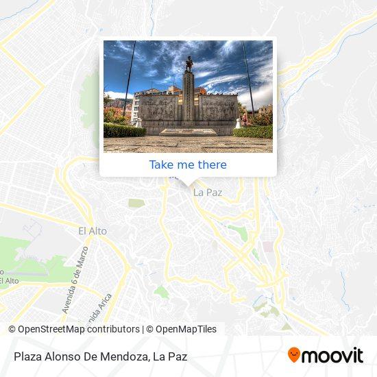 Plaza Alonzo De Mendoza map