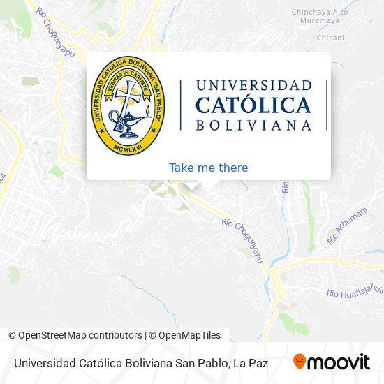 Universidad Católica Boliviana map