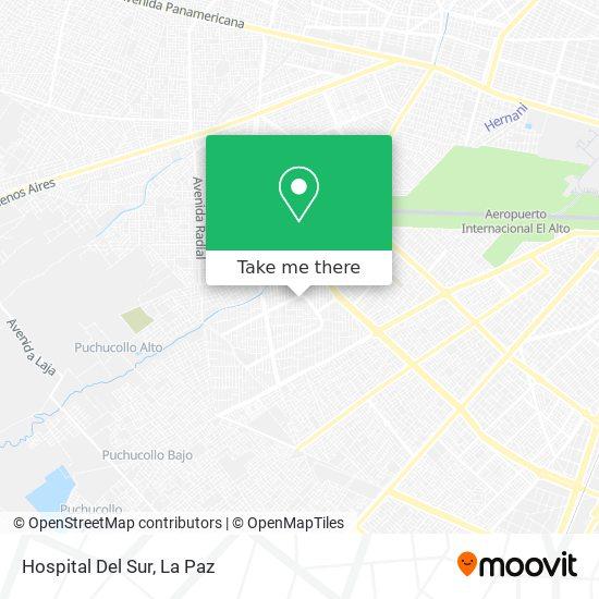 Hospital Del Sur map