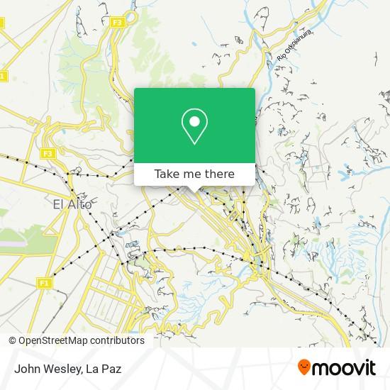 John Wesley map