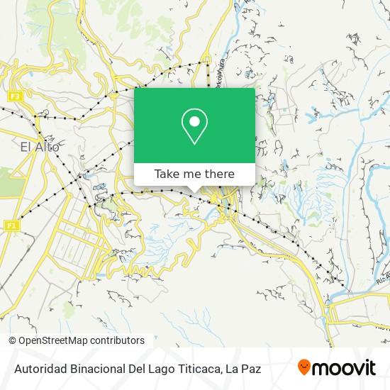 Autoridad Binacional Del Lago Titicaca map