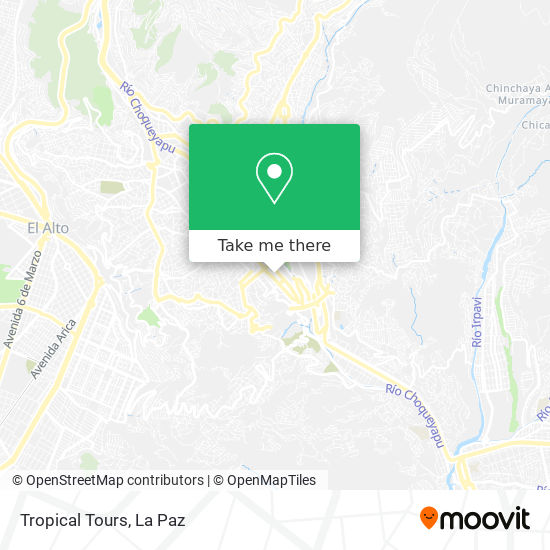 Tropical Tours map