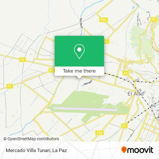 Mercado Villa Tunari map