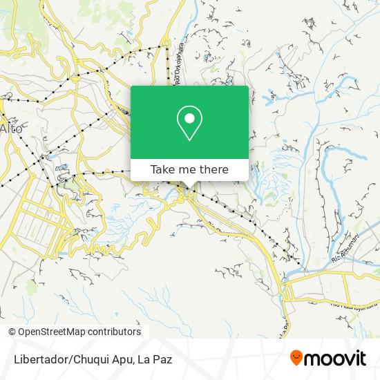 Libertador/Chuqui Apu map