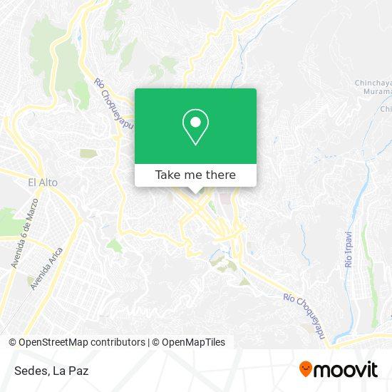 Sedes La Paz map