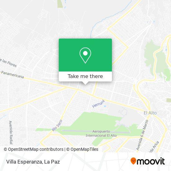 Villa Esperanza map