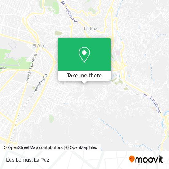 Las Lomas map