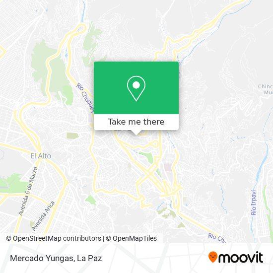 Mercado Yungas map
