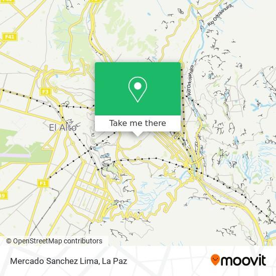 Mercado Sanchez Lima map