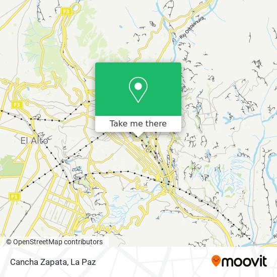 Cancha Zapata map