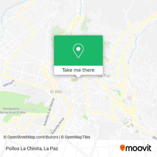Pollos La Chinita map