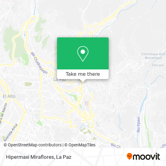 "Hipermaxi ""Miraflores"" map"
