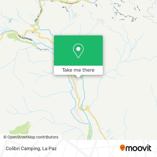 Colibri Camping map