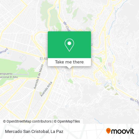 Mercado San Cristobal map
