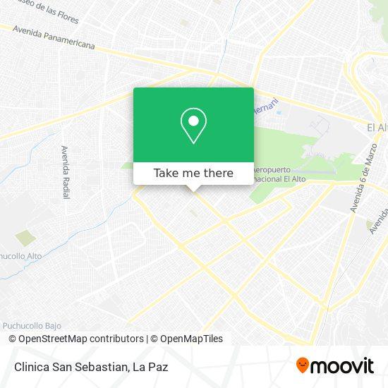Clinica San Sebastian map