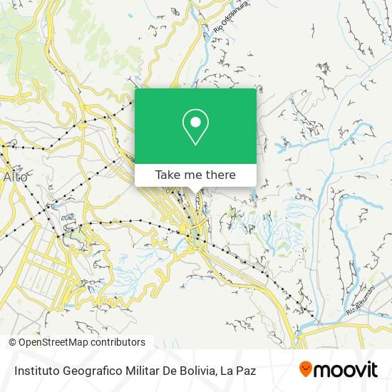 Instituto Geografico Militar De Bolivia map