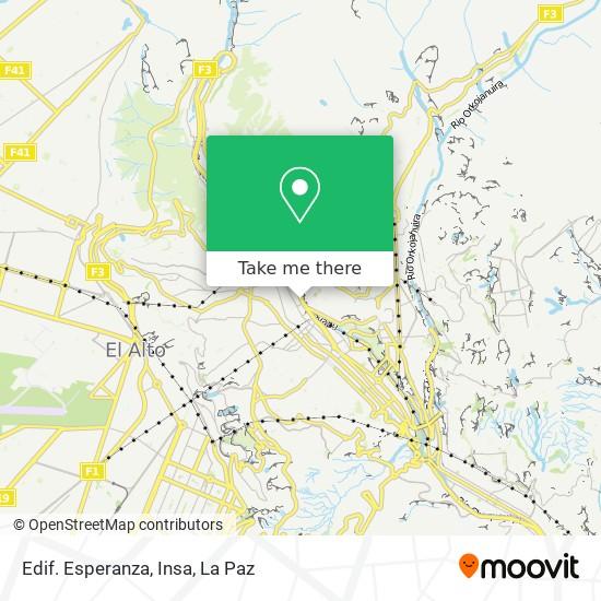 Edif. Esperanza, Insa map
