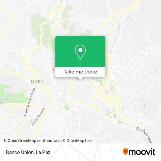 Agencia Banco Unión map