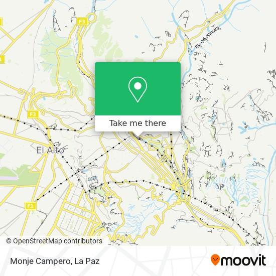 Monje Campero map